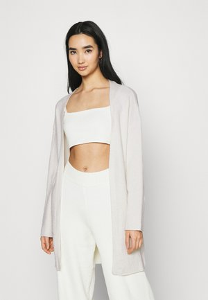 NA-KD X ZALANDO EXCLUSIVE - SOFT RIBBED CARDIGAN - Kardigan - off-white