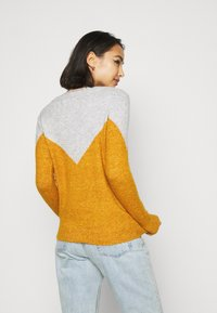 Vero Moda Petite - VMPLAZA BLOUSE - Jumper - light grey melange/buckthorn bro - 2