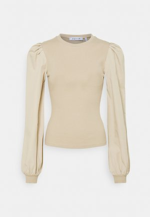 SLEEVE BLOUSE - Long sleeved top - beige