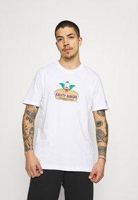adidas Originals - THE SIMPSONS KRUSTY BURGER - Print T-shirt - white - 0