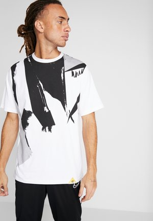 TERRACE BRUSH STROKES GRAPHIC TEE - Print T-shirt - brilliant white/black/micro chip