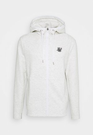 AGILITY TEXTURED ZIP THROUGH HOODIE - Cardigan - snow marl