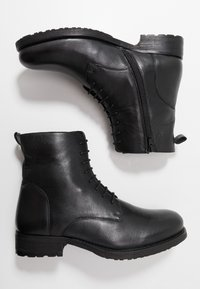 Jacamo - MILITARY BOOT - Lace-up ankle boots - black - 1