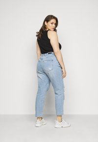 Simply Be - NON STRETCH SUPER MOM - Relaxed fit jeans - stonewash - 2