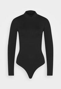 SEAMLESS MOCK BODYSUIT  - Top sdlouhým rukávem - black
