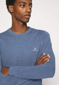 GANT - C NECK - Stickad tröja - denim blue - 4