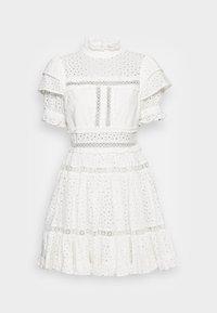 By Malina - IRO MINI LACE DRESS - Blousejurk - white - 3