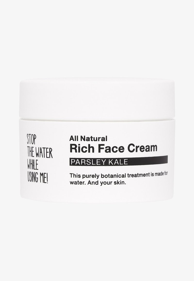 STOP THE WATER WHILE USING ME! - ALL NATURAL PARSLEY KALE RICH FACE CREAM - Face cream - black/white