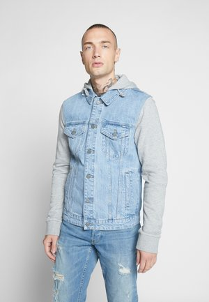 ONSCOIN HOOD TRUCKER  - Denim jacket - blue denim