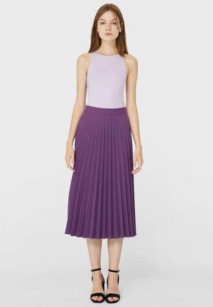 PLISSIERTER ROCK  - Pleated skirt - mauve