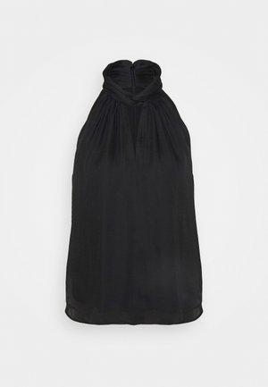 TWIST NECK HALTER - Toppe - black