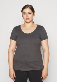 Anna Field Curvy - 3er PACK  - T-shirts - white/black/dark grey - 2