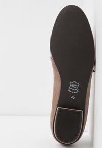 Brenda Zaro - CARLA - Ankle strap ballet pumps - taupe - 6
