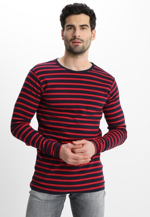 OSCAR TEE - Long sleeved top - navy/red