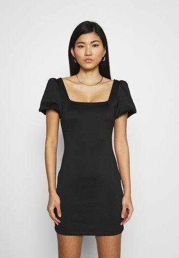 SASKIA DRESS - Žerzejové šaty - jet black