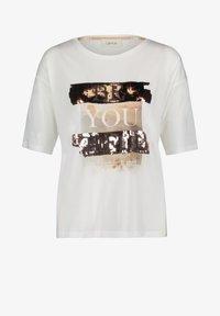Cartoon - MIT PAILLETTEN - Print T-shirt - white/copper - 5