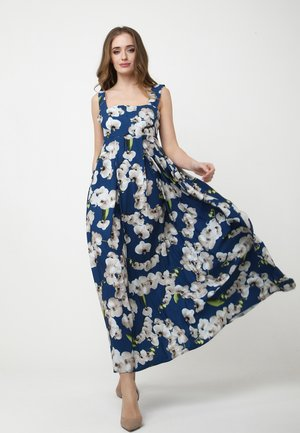 TOSCANA - Maxi dress - blau, hellbraun