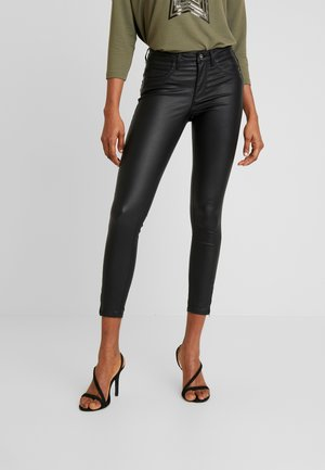 ONLKENDELL ANKLE COATED - Skinny džíny - black