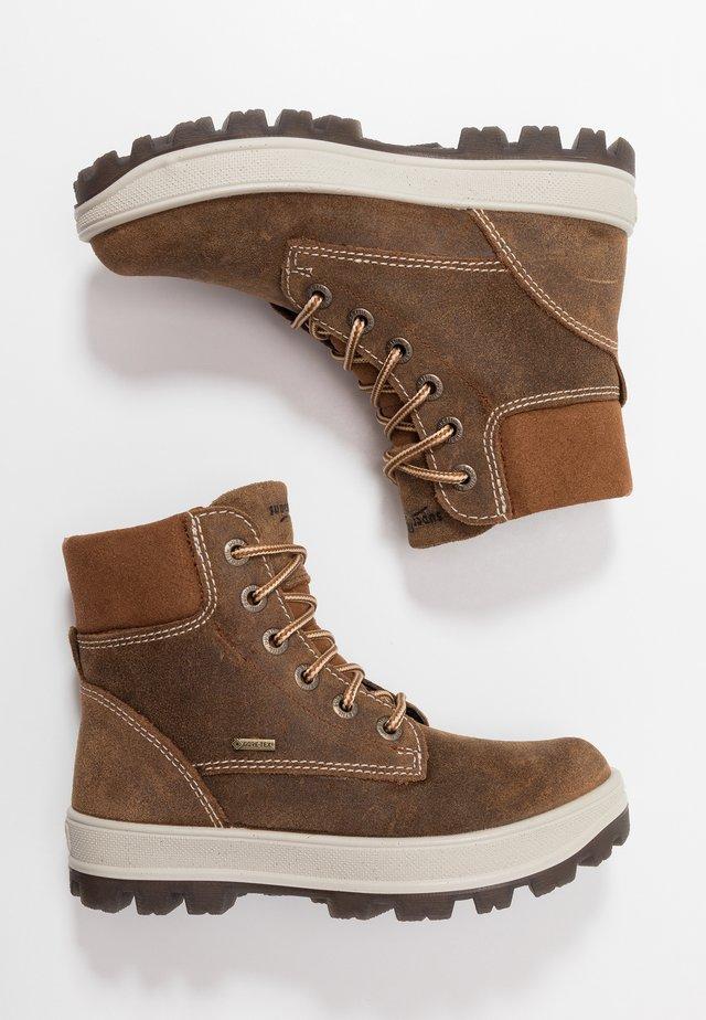 TEDD - Šněrovací kotníkové boty - braun