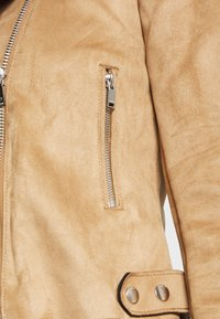ONLY - BIKER - Faux leather jacket - toasted coconut - 4