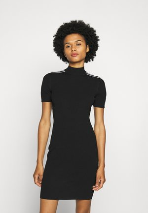 CIRCLE TAPE DRESS - Pouzdrové šaty - black