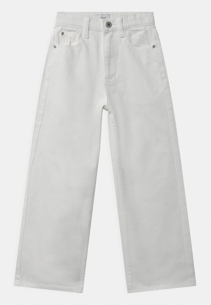 Grunt - WIDE LEG  - Džíny Relaxed Fit - white