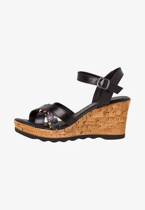 High heeled sandals - black