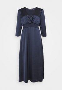 Dorothy Perkins - WRAP SHEERED WAIST MIDI DRESS - Cocktail dress / Party dress - navy - 0