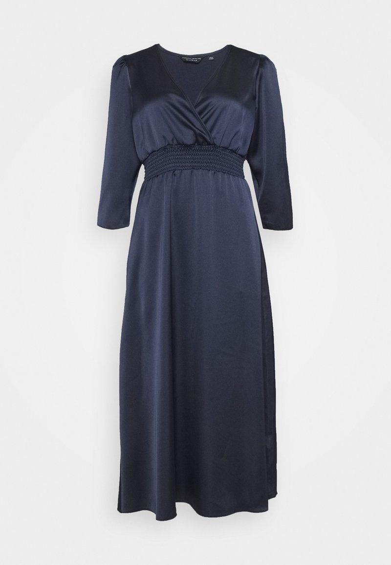Dorothy Perkins - WRAP SHEERED WAIST MIDI DRESS - Cocktail dress / Party dress - navy