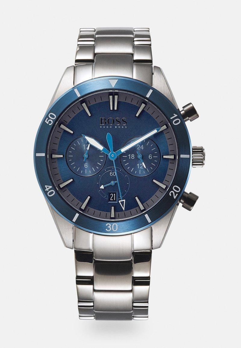BOSS - SANTIAGO - Chronograph watch - grey/blue