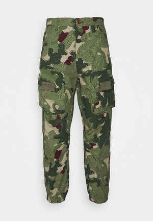 TAPERED PATCH POCKET PANT - Trousers - khaki