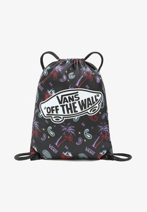 Rucksack - plaid pink/black/blue