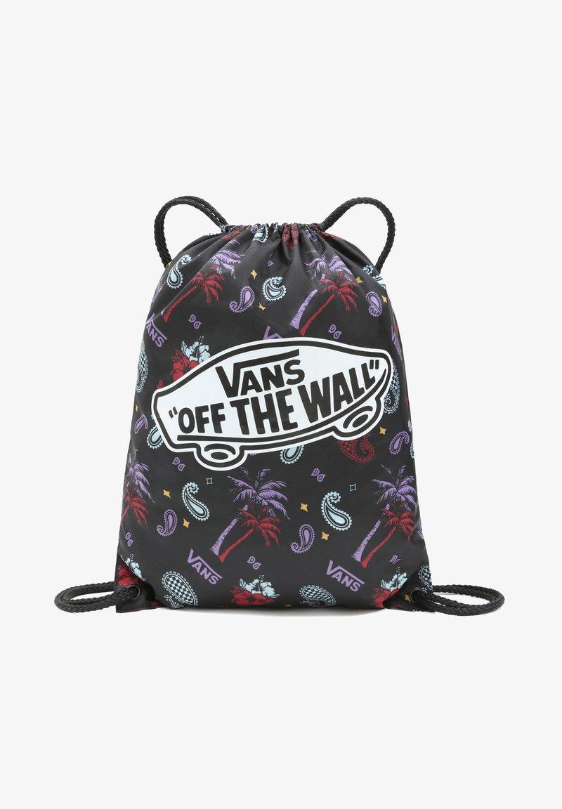 Vans - UA BENCHED - Sports bag - plaid pink/black/blue