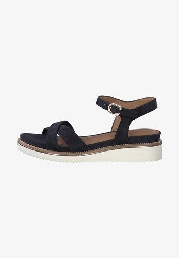Wedge sandals - navy