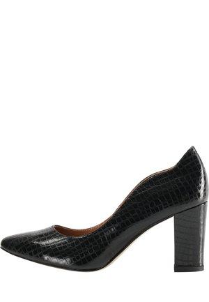 High heels - schwarz schlange