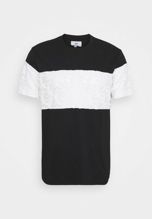 MONOGRAM YOKE TEE - Print T-shirt - black