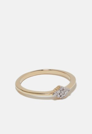 NATURAL DIAMOND RING CERTIFIED 0.07CARAT CLUSTER DIAMOND RINGS 9KT YELLOW GOLD DIAMOND JEWELLERY GIFTS FOR WOMENS - Ring - gold-coloured