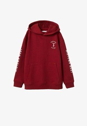 MET BEDRUKTE BOODSCHAP - Sweater - donkerrood