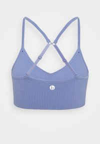 Cotton On Body - LIFESTYLE SEAMLESS V NECK CROP - Sports bra - periwinkle chevron - 1