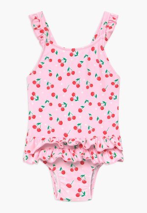 CHERRIES FRILL SWIMSUIT - Plavky - pink