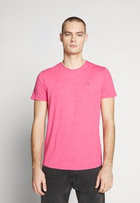 Tommy Jeans - ESSENTIAL JASPE TEE - Basic T-shirt - bright cerise pink - 0