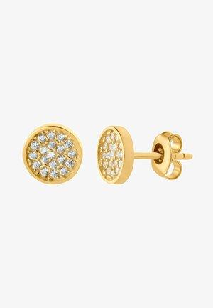 8 KARAT GOLD SHINY ZIRKONIA OHRSTECKER - Earrings - gold