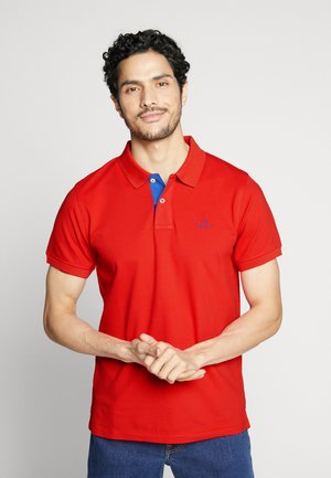 CONTRAST COLLAR RUGGER - Polo shirt - bright red