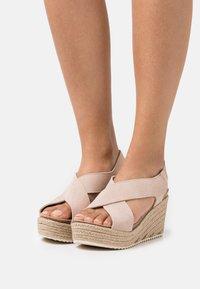 MAHONY - Platform sandals - nude - 0