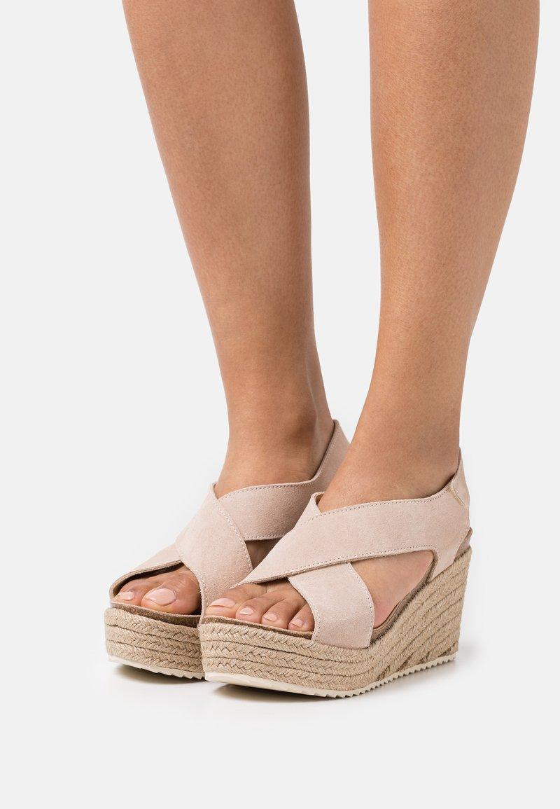 MAHONY - Platform sandals - nude