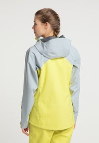 PYUA - Waterproof jacket - french grey - lemon yellow - 2
