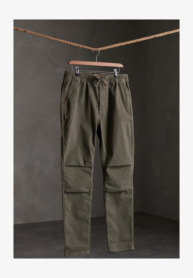Trousers - Base Olive Dogstooth