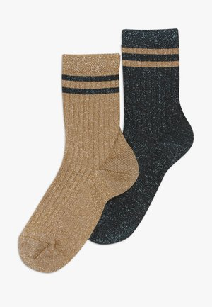 CLEMATIS 2 PACK - Ponožky - mustard/dark aqua green