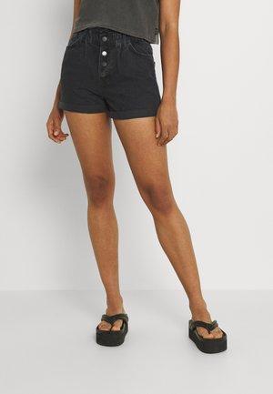 ONLCUBA LIFE PAPERBAG - Denim shorts - black denim