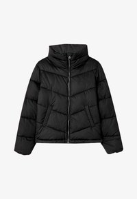 Stradivarius - MIT ROLLKRAGEN - Winter jacket - black - 4